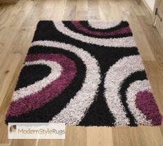 Vista OC11 Black Purple Rug - Buy Online - Free UK Delivery