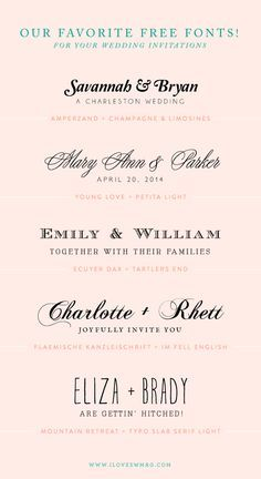 wedding font combinations - Google Search