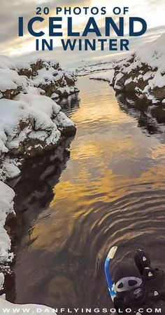 Iceland in winter photography and travel guide. Handy tips and inspiration to visit Iceland during its snowy dark months