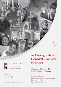 Poster design for a charity event raising funds for the Friends of Cathedral Music