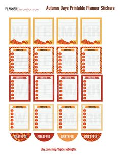 Autumn Days Printable Planner Stickers 3 by DigiScrapDelights