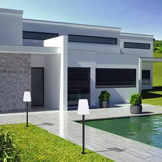 9246-Nowodvorski-Galaxy-I-Stålampe_m2 Garage Doors, Mansions, Lighting, House Styles, Metal, Outdoor Decor, Design, Home Decor, Products
