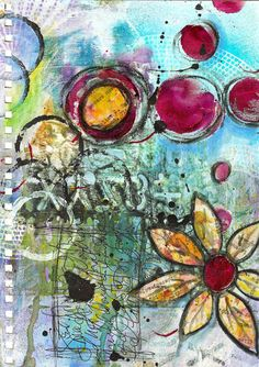Walking Through art journal page by Roben-Marie Smith, via Flickr