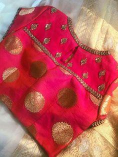 Rashikaprajapat @ g .- Rashikaprajapat Rashikaprajapat @ g … - Saree Blouse Neck Designs, Simple Blouse Designs, Stylish Blouse Design, Designer Blouse Patterns, Embroidery Designs, Studio, Chiffon Blouses, Cotton Blouses, Work Blouse