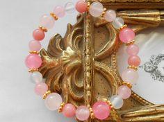 ★桜をイメージしたピンクの可愛らしいパワーストーンブレスレットです                                              ...|ハンドメイド、手作り、手仕事品の通販・販売・購入ならCreema。