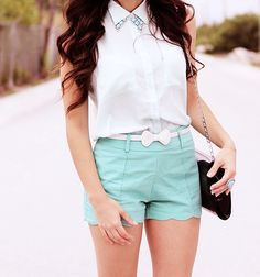 Cute summer outfit with either white converse or white t-sandals.