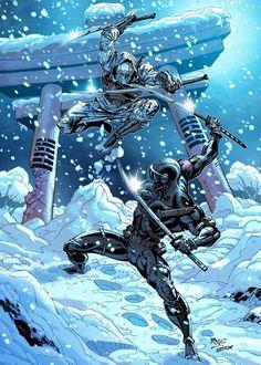Comic Book Characters, Comic Character, Comic Books Art, Comic Art, Arte Ninja, Ninja Art, Power Rangers, Transformers, Snake Eyes Gi Joe
