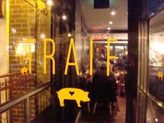 WILLIAMSBURG: Traif (American Nouveau) - 229 S. 4th St., Brooklyn, NY 11211  nr. Havemeyer