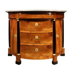Italian 18th century Directoire period Demi lune walnut and ebony console | From a unique collection of antique and modern console tables at http://www.1stdibs.com/furniture/tables/console-tables/