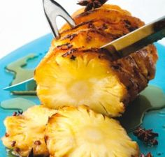 Clove-Studded Roasted Pineapple Recipe  A warm, Chinese-spiced pineapple dessert for winter