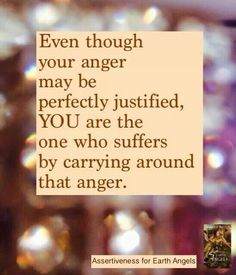 Anger only takes away years from your life..  Forgive and move forward with positive thoughts!  Something that I am personally working on! #cnw