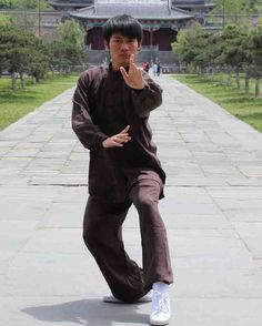 Asia-Sale Best Tai Chi, Kung Fu Clothing & Equipment Shop - Brown Hemp and Linen Wudang Tai Chi Uniform with Cuffs for Men and Women