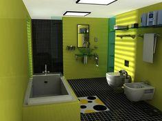 El color verde en la decoración del cuarto de baño - http://www.decoora.com/el-color-verde-en-la-decoracion-del-cuarto-de-bano/