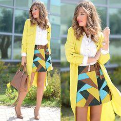 Get this look: http://lb.nu/look/7866118  More looks by Helena Cueva: http://lb.nu/miaventuraconlamoda  Items in this look:  Zara Trench, Asos Skirt, Zara Handbag, Mango Heels   #chic #elegant
