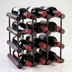Modular Bottle Wine Rack  Mahogany