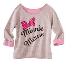 Minnie Mouse Graphic Neon Pop sweat Shirt Junior