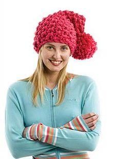 BIG Seed Stitch Hat with Pom Pom