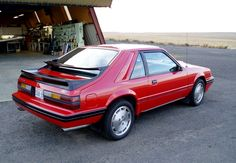 Mid 80s Mustang SVO (Special Vehicle Operations). The more technologically advanced Fox body.