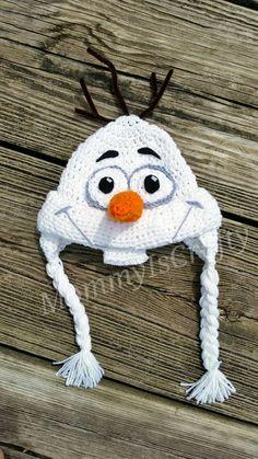 Disney Frozen Olaf Hat / I like Warm Hugs / Olaf by MommyisCrafty
