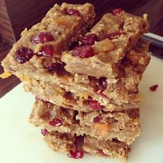 Tone It Up Protein Bars shared by Stephanie Leake! 1 Cup Oats  - 1 Cup Organic, natural, smooth Peanut Butter  - 1 Cup Organic Honey  - 1/2 Cup Dried Apricots (Chopped)  - 1/2 Cup Dried Cranberries  - 3 scoops of Perfect Fit Protein!