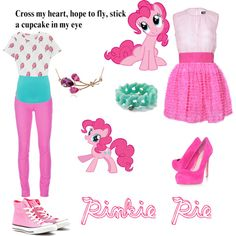 """""""Pinkie Pie"""" by rosethornxxoo on Polyvore. I have a soft spot for Pinkie Pie."""