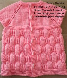 fashion organ Baby Vest Model 1 - Diy And Home Baby Cardigan Knitting Pattern Free, Baby Knitting Patterns, Knitting Designs, Crochet Girls, Knitting For Kids, Sweater Design, Baby Sweaters, Baby Dress, Knitted Hats