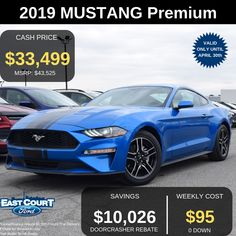 Stock# 04.05 - 92084  $0 DOWN, THIS 10 SPEED AUTOMATIC ECOBOOST PREMIUM COMES WITH   -2.3L V4 TI-VCT ENGINE  -18 INCH ALUMINIUM  -BLADE DECKLID SPOILER  -BLIS  -PREMIUM TRIM  -LEATHER SEATS Ford Employee, Leather Seats, Car Deals, Car Ford, Ontario, Mustang, Blade, Engine, Best Deals
