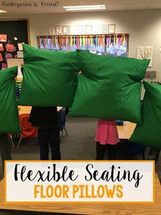 Looking for an idea for flexible seating in your classroom?  Are you tired of the plain boring metal chairs and switching to alternative seating?  Check out how these floor pillows for kids!  Great for a kindergarten classroom!  See why pillows are a better seating alternative for students!