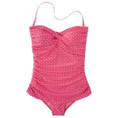 Clean Water Womens Polka Dot 1-Piece Swim Dress -Assorted Colors