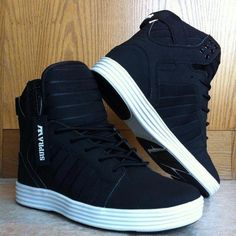 I found 'Super High tops' sweet these would look awesome on a black suit with a black vest black pants and no tie white shirt with 3 buttons undone yeah that so me. Cute Shoes, Me Too Shoes, Men's Shoes, Shoe Boots, Shoes Sneakers, Dress Shoes, Dress Clothes, Men Dress, Dress Outfits