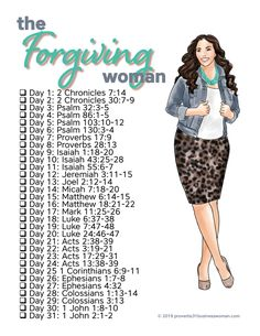 bible Study and learn how to accept God's Gift of Forgiveness AND how to freely give the same gift to others as a Forgiving Woman. When you complete this mini-Bible study, you'll be able to wa Bible Study Plans, Bible Study Journal, Scripture Study, Scripture Reading, Isaiah Bible Study, Bible Verses About Forgiveness, Ruth Bible, Bible Journaling For Beginners, Bible Plan