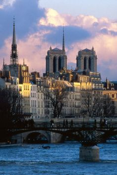 """Paris the """"City of Light"""" is blessed with a Seine river (old name Sequana). The River Seine flows between Paris and Le Havre. The river Seine (French: La Seine, Paris Travel, France Travel, Paris France, Places To Travel, Places To See, Places Around The World, Around The Worlds, Paris Canal, France Wallpaper"""