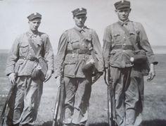 Stefan Lejk (w środku) służba wojskowa rok 1960