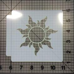 Tangled Sun Stencil 100