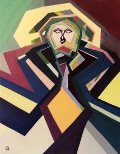 """Saatchi Art Artist Angela Monteiro; Painting, """"Uriel """" #art 27.6 H x 35.4 W $800"""