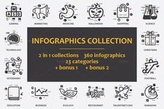 -90% GREAT COLLECTION! Infographics by Palau on Creative Market