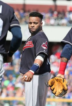 Cleveland Indians Carlos Santana during the game against the Chicago Cubs at Sloan Park in Mesa, Arizona on Feb. 26, 2017.  (Chuck Crow/The Plain Dealer)