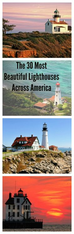 These beautiful lighthouses across America make the perfect travel getaways for seeing pretty landscapes and new destinations.