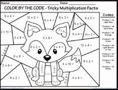 coloring multiplication worksheets free multiplication