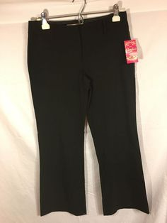 Candies Black Juniors Dress Pant Sz 7 Self Elite Fit Work Womens Classy New NWT #Candies #DressPants