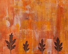 AUTUMN Abstract Art Prints signed by Artist by KathleenWongArt