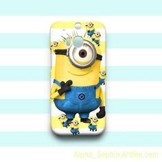 CUTE Despicable Me Stuart Minions HTC One M8 Case Cover Hardshell