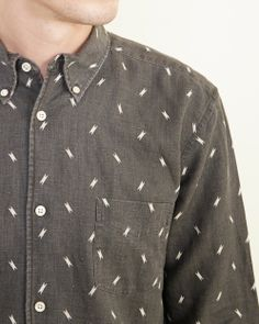 Our Legacy 1950 Button Down Shirt Lightning Print in Brown | #MohawkGeneralStore #OurLegacy
