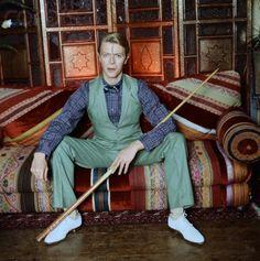 British Singer David Bowie ca 1970's by Norman Parkinson