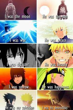 Uchiha Sasuke and Uzumaki Naruto after all became real friends.
