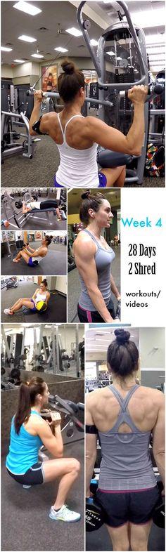 Week 4 Workouts/Videos