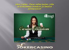 https://flic.kr/p/YWmWby | ilmaiskierrokset, tervetuliaisbonus, livekasino |  Follow us : www.jokercasino.com/fi  Follow us : followus.com/rahapelit  Follow us : videohedelmapelit.wordpress.com