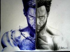 Illustrations made using only a ball-point pen!