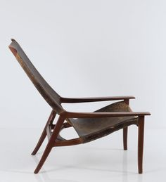 Lars Hjelle // Tannum A/S, Norway or Gemla, Dio, Sweden. // Teak and black leather