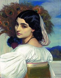Pavonia, by Frederic Leighton,1858–1859, oil on canvas. Private collection. Photo © Christie's